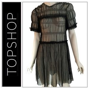 ⭐️HOST PICK⭐️ Topshop Tulle Overlay Dress Coverup